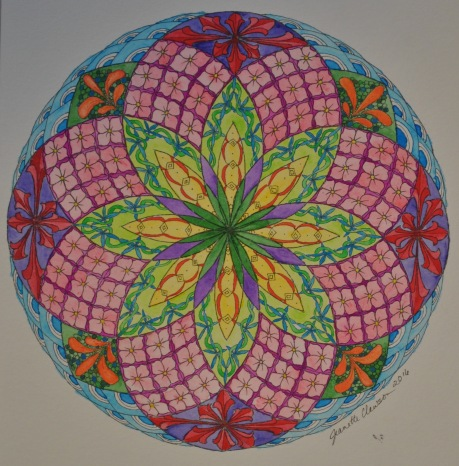 zentangled torus mandala