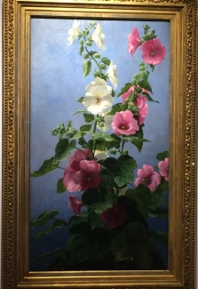 Hollyhocks 1881 John Ross Key