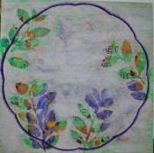Draw the circle wide collage mandala layer 1