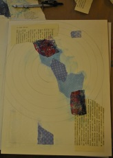 dahlia dalliance painting collage