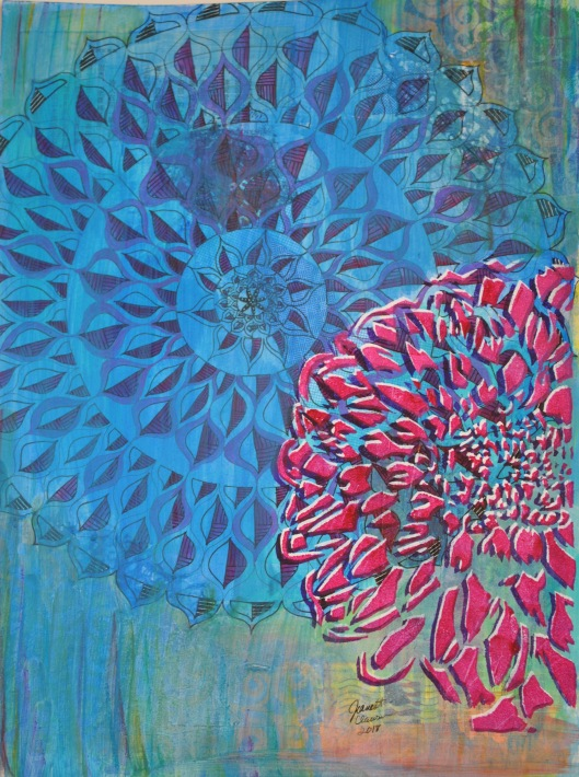 dahlia dalliance painting finished