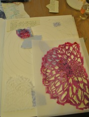 dahlia dalliance painting starting