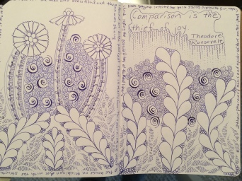 blue zentangle